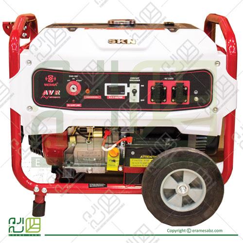 موتور برق ویما 8500 استارتی چرخدار مدل SKN 8500E